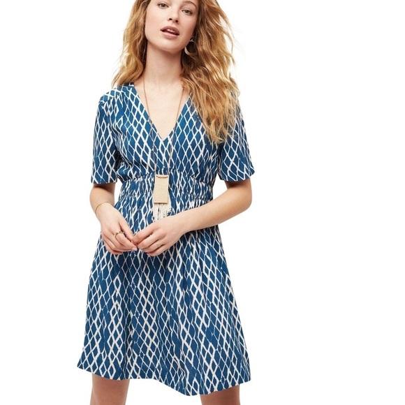 df7cb573 Anthropologie Dresses & Skirts - Anthropologie Blue Archipelago Dress Size  0 Petite